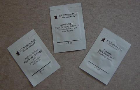 NV Perricone samples