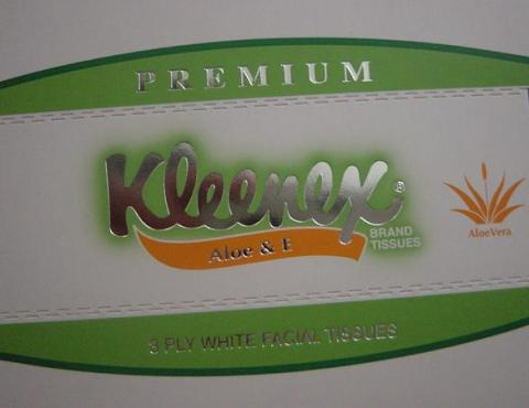 Kleenex Aloe and E tissue2