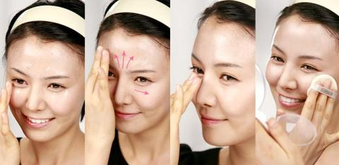 Hanskin Magic BB cream application method